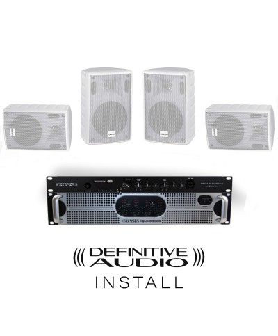PACK INSTALL BAR Blanc 4xNEF8 WH 1xQUAD300D 1xMEDIA PLAYER ONE