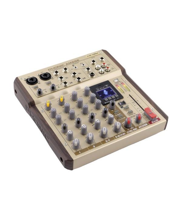 Phonic AM6GE Console de Mixage Analogique 6voies