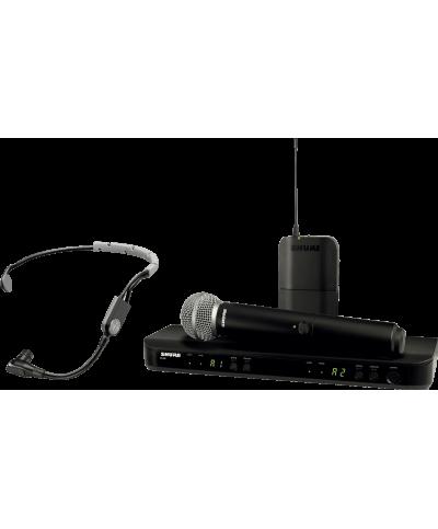 Système HF Shure Double BLX1288E-SM35 M17 Main et Serre Tête