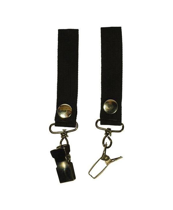 Attache gants ou badge BLACK-TEC avec boucle passe ceinture Sangle en nylon - Longueur 10 cm