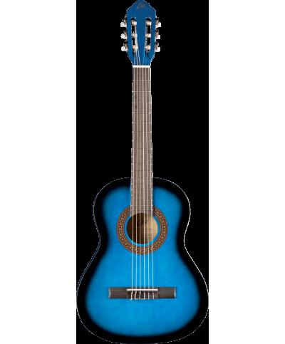 Eko GEC CS5-BLU Guitare Classique Studio 3/4 Blue Burst