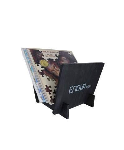 Support Vinyle 25 LP Finition Noire Enova hifi VR 25 BL