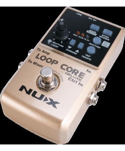 Nux LOOPCORE-DELUXE Pédale looper & boîte à rythmes + pédalier 2 voies