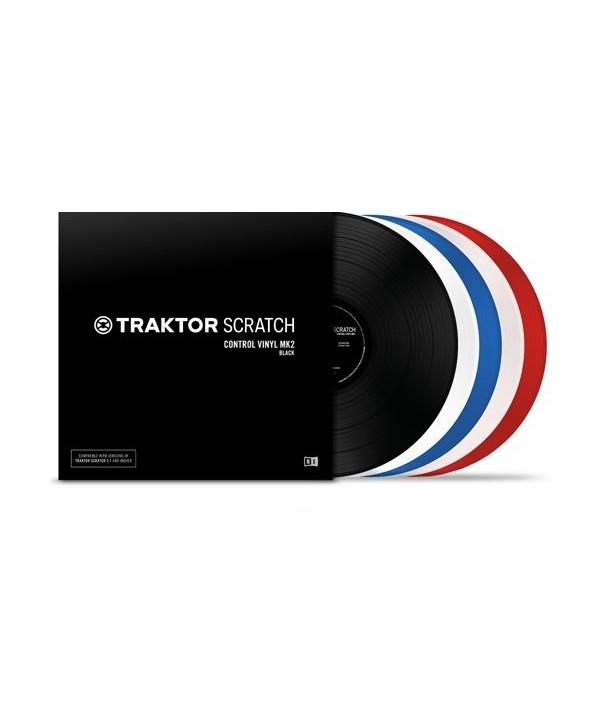 Vinyle de Control Timecode MK2 ROUGE pour TRAKTOR SCRATCH
