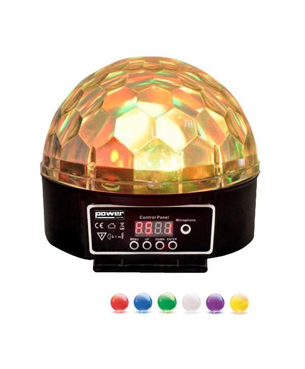 Effet SPHERO MAGIK LED MK2 Noir 6x3W RGBWAP Power Lighting