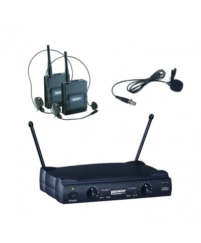 Double Micro HF POWER VHF Serre Tête WM4000 PT VG3