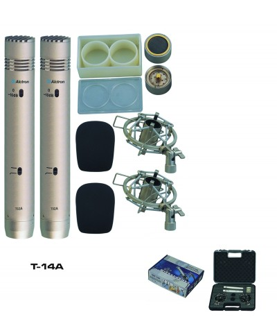 Pack 2 Micros Electret alctron T 14 A