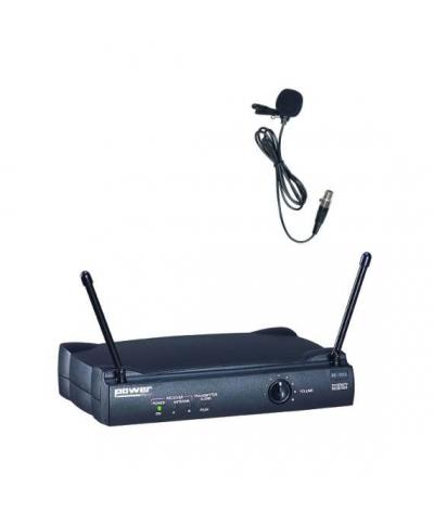 Simple Micro Serre-Tête Cravate VHF - Freq175,5 Mhz Power Acoustics WM 3000 L 175