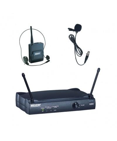 Simple Micro Serre-Tête Cravate VHF - Freq183,5 Mhz Power Acoustics WM 3000 L 183