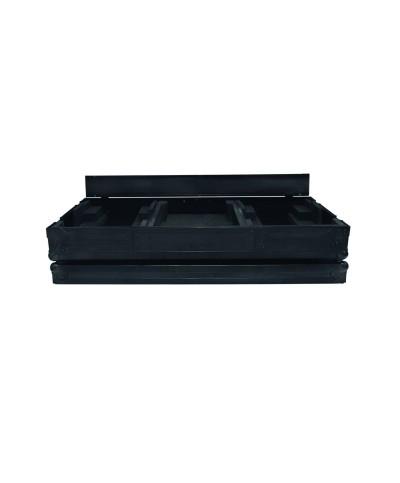 Flight Case pour 2 platines CDJ900 ou CDJ2000 Mixer 12.5 Couleur Noire Power Acoustics PCDM 2900 BL NXS